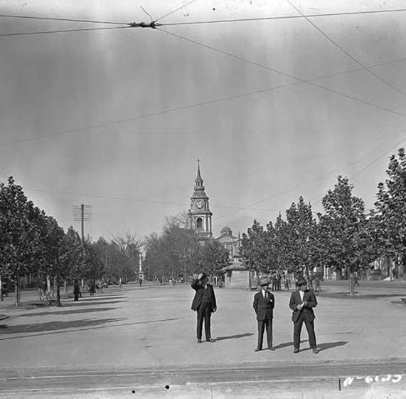 Fragmento de fotografía. 1927. Fuente: Luces de Modenidad. Archivo fotográfico Chilectra.