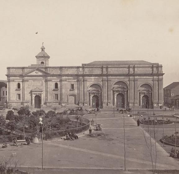 Fragmento de fotografía de William L. Olliver, Catedral de Santiago 1867.